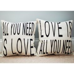 yes. yes. yes. (these are on my wish list.) :: All You Need Throw Pillow - Set of 2