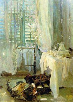 "John Singer Sargent (1856–1925) ""The Hotel Room"", c.1908. Oil on canvas, 61 x 44.5 cm"