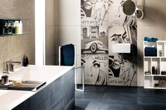 Tile- Nolita Collection -Ink 60x60 /by @Mirageit