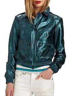 Burberry Brit Statonbury Leather Jacket
