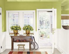 ©Gridley + Graves Photography  Green Entryway Kate White's house in Country Living Magazine