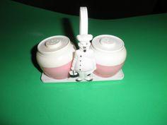 Vintage Plastic Pink Salt Pepper Shaker Set