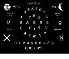 Make Your Own 'Spirit Board' - a timid term for a Ouija board; put the frighteners up some people!