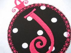 Applique Christmas Ornaments - perfect to use as frames for initials  #embroidery #designs #akdesigns