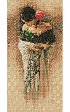 The Rose Cross Stitch Kit £27.50   Past Impressions   Dimensions