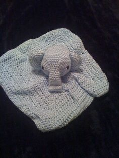 elephant security blanket - boy