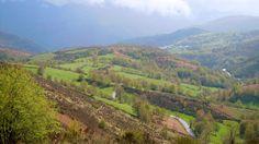 View from the Alto do San Roque, Linares, Galicia, Spain, Camino de Santiago