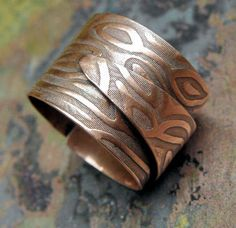 Copper River Adjustable Unisex Copper Ring by ThePurpleLilyDesigns, $38.50