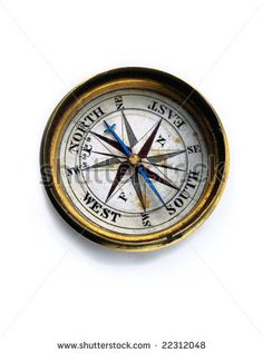 Antique Compasses Vintage | Weathered Antique Compass On A White Background Stock Photo 22312048 ...