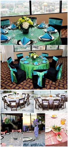 Teal and Black wedding colors by White Table.   http://www.thebridelink.com/blog/2012/09/18/white-table-specialty-linens/#