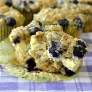 Blueberry Oatmeal Lemon Cheesecake Muffins