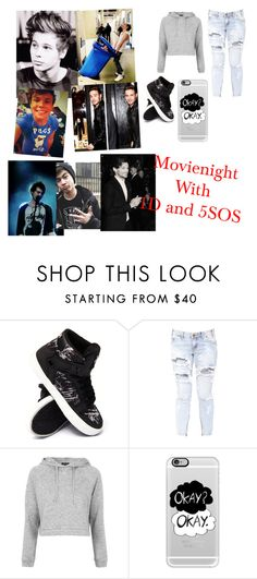 """1D and 5sos outfit #14"" by niall-lover-2000 ❤ liked on Polyvore featuring Supra, One Teaspoon, Topshop, Casetify, Payne and Mikey"
