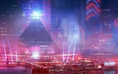 General 1680x1050 cityscape digital art futuristic science fiction