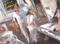 """El hospital a las cuatro de la mañana (""""The hospital at 4 a.m.""""). Douglas Manry. 2009. Localización: colección particular. https://painthealth.wordpress.com/tag/manry-1954/"""