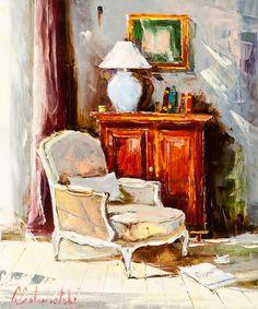 Interior in Grey by Gleb Goloubetski