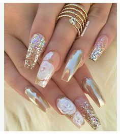 12 unique trending nail art designs for Hot nail right nail now in fashion. Stiletto nails, rainbow almond nails, Ombre rounded nail art designs for summer. Fabulous Nails, Gorgeous Nails, Pretty Nails, Perfect Nails, Fancy Nails, Love Nails, My Nails, Matte Nails, Stiletto Nails