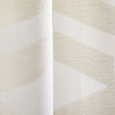Semi-Sheer Clipped Jacquard Curtain - Ivory | West Elm