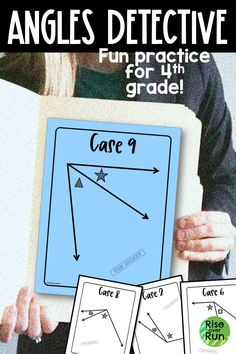 In this engaging activity, students work with angles as Detectives!  They estimate angle measures, solve for unknown angles, and use a protractor to measure angles in degrees.  Perfect for 4th grade or review in middle school. 12th Maths, 8th Grade Math, Fun Math Activities, Math Resources, Activity Centers, Math Centers, Types Of Angles, Protractor, Hands On Learning