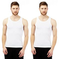 Debenhams Pack of two cotton mesh vests | Debenhams