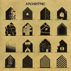 """In Babina's words, ARCHIATRIC is an """"illustrated reflection on the relationship between creativeness and mental disorders."""