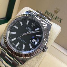 May be pre-loved but still got warranty till 2020! Rolex Datejust II Black Baton Dial   Get it quick!