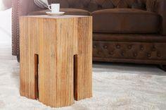 Luxusný nábytok REACTION: Stolík CASTEL ROCK z masívu.