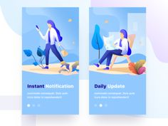 Onboarding screens exploration designed by Sudhan Gowtham for Connect with them on Dribbble; the global community for designers and creative professionals. People Illustration, Flat Illustration, Creation Site, Web Design Quotes, Splash Screen, Mobile Ui Design, Screen Design, Web Layout, Page Design