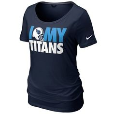 Nike Tennessee Titans Women's Team Dedication Tri-Blend T-Shirt - Navy Blue#UltimateTailgate #Fanatics