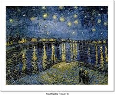"""Starry night over the Rhône by Vincent Van Gogh"" - Art Print from FreeArt.com"