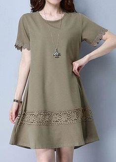 Choose new fashion casual dresses with sleeves for 2018 on newchic at discout prices. You can find off shoulder casual dress, casual swing dress and black dress casual outfit here Mobile. Casual Dresses With Sleeves, Simple Dress Casual, Stylish Dresses For Girls, Stylish Dress Designs, Simple Dresses, Sexy Dresses, Nice Dresses, Batik Dress, Mini Vestidos