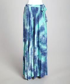 Look what I found on #zulily! Blue Floral Waist-Tie Maxi Skirt by Sweet Sinammon #zulilyfinds