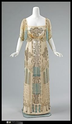 Evening Dress 1909-1911 The Metropolitan Museum of Art....this is stunning! by alisha