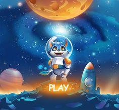 Viktor Evsyugin on Behance Game Background, Cartoon Background, Cute Illustration, Character Illustration, Game Concept, Concept Art, Original Iphone Wallpaper, 2d Game Art, Game Ui Design