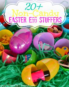 20+ Non-Candy Easter Egg Stuffers | One comment added Legos - put the pieces for a small set in One color of egg so that kid gets a full Lego to build...