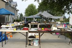"When you are setting up your sale:  Think like a store-owner.  Think like a shopper.  You are displaying other people's ""treasures"" and not your unwanted ""junk"".  Remember what attracted you and what turned you off at other garage sales you have been to."