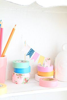 Adorable mini washi tape bunting.