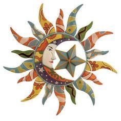 Sun moon star wall art