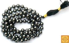 Hematite mala to improve memory, mental focus and concentration