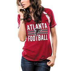 Atlanta Falcons Women's Revelation Flannel Sleep Set - Red