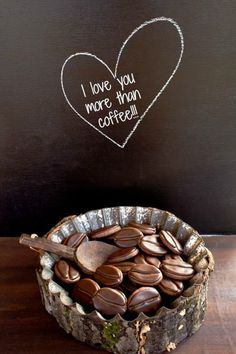 I love you more that Coffee! (Valentine Cookies)