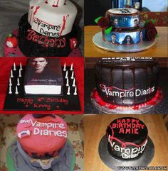 The Vampire Diaries Cake, can I have for my birthday?!