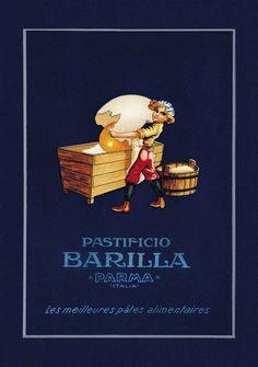 Vintage Italian Posters ~ #illustrator #Italian #vintage #posters ~ Barilla's Pasta