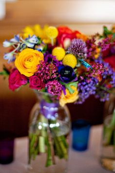 Flowers, Reception, Pink, Green, Purple, Ceremony, Blue, Red, Orange, Inspiration board