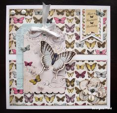 8x8 card using Craftwork Cards Botanica collection.