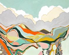 Abstract Landscape III - Archival Print, modern abstract landscape