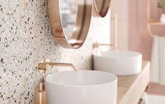 Gresia Terazzo din colectia Hika de la Cersanit, disponibila pe site Stone Bathroom, Bathroom Kids, Downstairs Bathroom, Contemporary Bathrooms, Contemporary Interior, Salons Cottage, Ceramic Workshop, Shower Systems, Deco Design