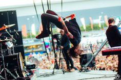 Brendon Urie of Panic! At The Disco live at Reading Festival 2015 by Adam Elmakias