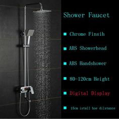 105.61$  Watch here - http://ali5qt.worldwells.pw/go.php?t=32691040333 - Digital Shower Mixer with Display Bath Shower Faucet System Wall Mount Mixer Digital Display Shower Panel without Battary 105.61$