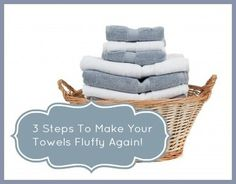 Have your towels lost their fluff? Make them like new again with three easy steps!