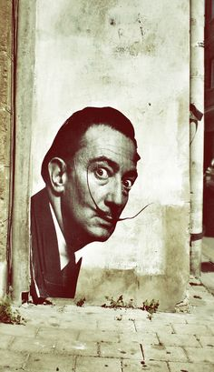 Street Art: Salvador Dali in Nicosia
